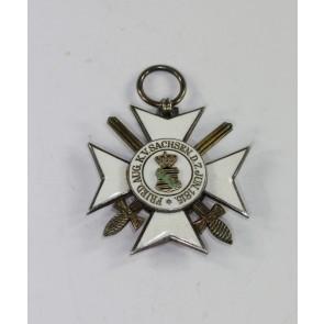 Sachsen, Verdienstorden Ritterkreuz 2.Klasse mit Schwertern, Hst. S