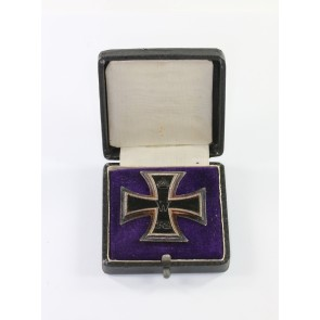 Eisernes Kreuz 1. Klasse 1914, Silber (800), Hst. Y, im Etui