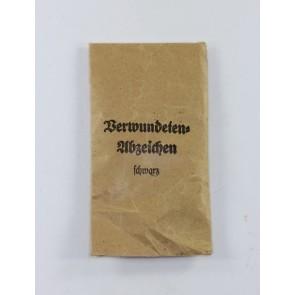 Verleihungstüte Verwundetenabzeichen in Schwarz, Hobacher
