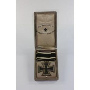 """Eisernes Kreuz 2. Klasse 1914, im Schmuck Etui """"Zur Erinnerung an Deutschlands große Zeit"""""""