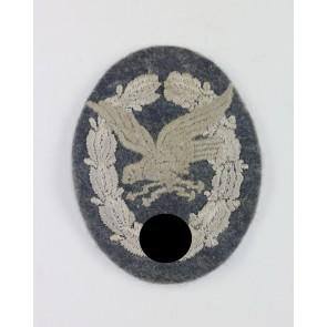 Fliegerschützenabzeichen mit Blitzbündel der Luftwaffe, Stoff