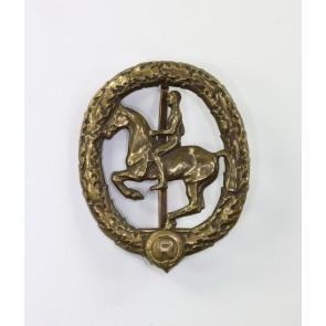 Deutsches Reiterabzeichen in Bronze, Hst. Lauer
