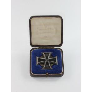 Eisernes Kreuz 1. Klasse 1914, Silber (800), an Schraubscheibe, Deutscher Offiziers Verein, im Etui (!)