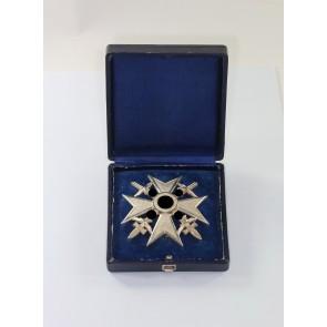 Spanienkreuz in Silber mit Schwertern, Hst. CEJ 900, im Etui