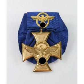 Polizei-Dienstauszeichnung in Gold (25 Jahre), an Einzelspange