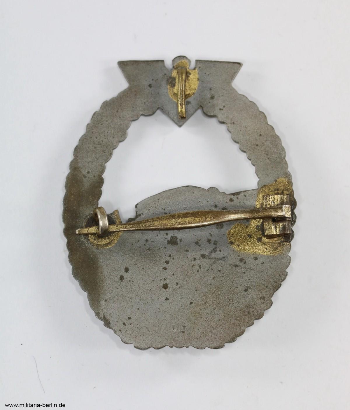 Schnellbootkriegsabzeichen-Rückseite