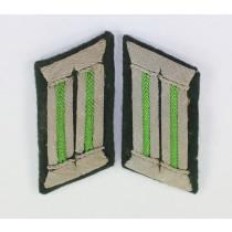 Wehrmacht Heer, Paar Kragenspiegel Panzergrenadiere (Offizier)