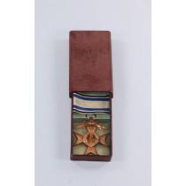 Bayern, Militär Verdienstkreuz 3. Klasse mit Schwertern, im Etui, Deschler & Sohn