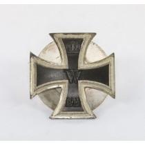 Eisernes Kreuz 1. Klasse 1914, Schickle, einteilig, nicht magnetisch, an Scheibe und Mutter