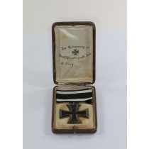 Eisernes Kreuz 2. Klasse 1914, Hst. KO, im Schmuck Etui - Zur Erinnerung an Deutschlands große Zeit (Kroko)