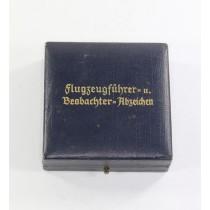 Etui Flugzeugführer u. Beobachter Abzeichen (Doppelabzeichen)