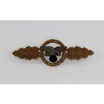 Frontflugspange für Transportflieger in Bronze, Buntmetall