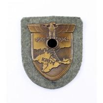 Krimschild auf Heeresstoff, Typ 3.10
