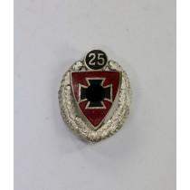 Nationalsozialistischer Reichskriegerbund (NSRKB) Silberne Ehrennadel für 25 jährige Mitgliedschaft