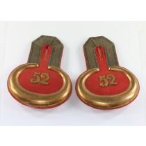 Paar Epauletten für einen Leutnant im 52. Preußischen Infanterieregiment (von Alvensleben)