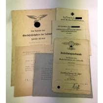 Urkunden Ritterkreuzträger / Jagdflieger Herbert Schob, Anerkennungsurkunde (!)