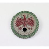 Standschützen Tirol, Siegerabzeichen KK-Gewehr 1944 Gold mit Eichenlaub Kranz