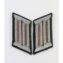 Paar Kragenspiegel für Offiziere der Panzertruppe