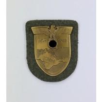 Krimschild auf Heeresstoff, Wilhelm Deumer Typ 1