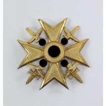 Spanienkreuz in Gold mit Schwertern, Hst. L/13