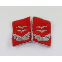 Luftwaffe, Paar Kragenspiegel für einen Oberleutnant der Flakartillerie