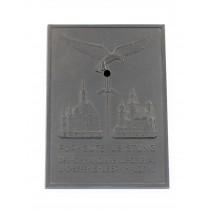 Luftwaffe, nichttragbarer Ehrenschild - Für gute Leistungen Der kommandierende General und Befehlshaber im LGK VIII Breslau Krakau
