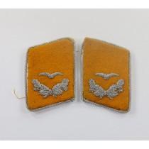 Luftwaffe, Paar Kragenspiegel, Leutnant fliegendes Personal