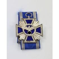 NSDAP Dienstauszeichnung in Silber, flach, Für Treue für Führer und Volk