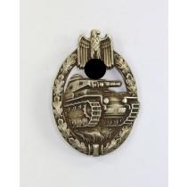 Panzerkampfabzeichen in Silber, Juncker, Neusilber, Porsche Variante