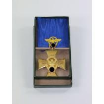 Polizei Dienstauszeichnung in Gold (25 Jahre) Für treue Dienste in der Polizei, im Etui