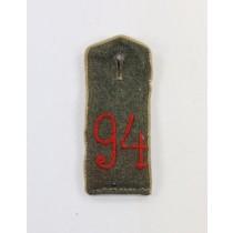 Preußen, 1. Weltkrieg, Schulterklappe feldgrau für Mannschaften im Infanterie Regiment Nr. 94 - Großherzog von Sachsen