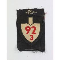 Reichsarbeitsdienst (RAD),  Abteilungsabzeichen 92 3