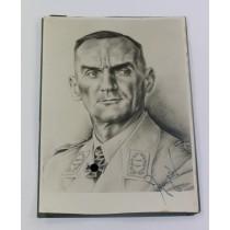 Signierte Propagandakarte General der Flieger Curt Pflugbeil