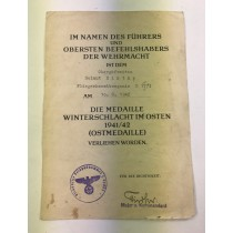 Urkunde Ostmedaille, Fliegerhorstkompanie