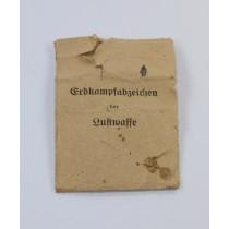 Verleihungstüte Erdkampfabzeichen der Luftwaffe, G.H. Osang Dresden A 1