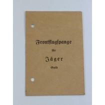 Verleihungstüte Frontflugspange für Jäger Gold, G.H. Osang Dresden A 1