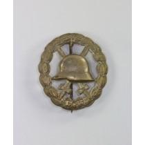 Verwundetenabzeichen in Silber 1918 durchbrochen