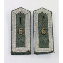 Wehrmacht Heer, frühes Paar Schulterklappen für einen Feldwebel im Infanterie Regiment 6