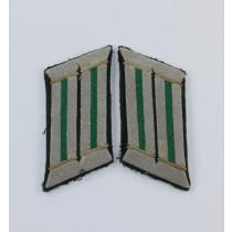 Wehrmacht Heer, Paar Kragenspiegel für Offiziere Gebirgsjäger
