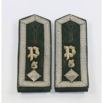 Wehrmacht Heer, Paar Schulterklappen Feldwebel, Panzer Regiment 5