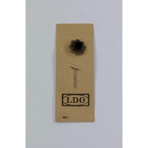 16 MM Miniatur Deutsches Kreuz in Gold, Hst. L/12 auf LDO Karte