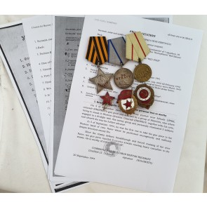 Sowjetunion, Katyuscha Gruppe, Ruhmesorden 3. Klasse mit Archiv Material