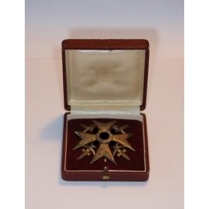 Spanienkreuz in Gold mit Schwertern, 900, im Etui