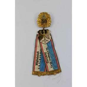 Abzeichen für 50 Jahre Mitgliedschaft Landes-Kriegerverband, Kyffhäuser-Verband Bamberg