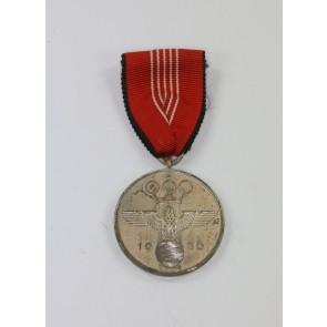 Deutsche Olympia Erinnerungsmedaille 1936, entnazifiziert