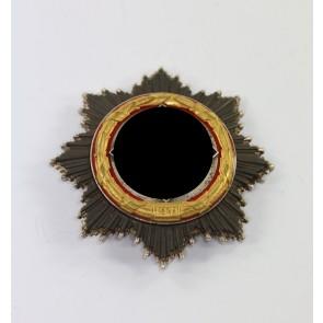 Deutsches Kreuz in Gold, Deschler (schwer) kurze Nadel, 6 Nieten