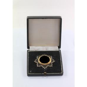 Deutsches Kreuz in Gold, Hst. 21 (schwer), im Etui
