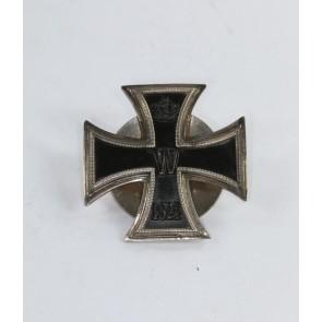 Eisernes Kreuz 1. Klasse 1914, Deutscher Offiziers Verein, an Scheibe und Mutter, Silber 800