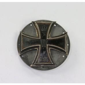 Eisernes Kreuz 1. Klasse 1914, Silber (800), an großer Scheibe, Carl Dillenius (CD)