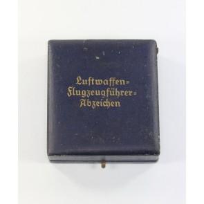 Etui Flugzeugführerabzeichen der Luftwaffe